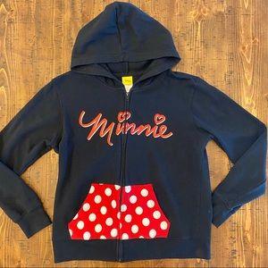 Disney Minnie Mouse hooded sweatshirt full zip